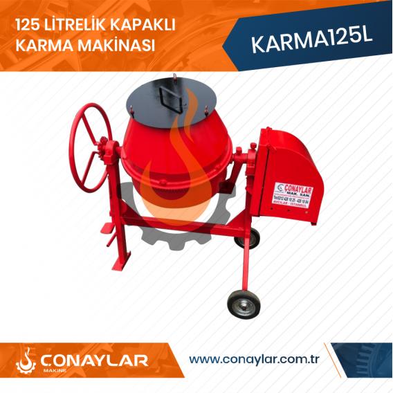 125 Litrelik Kapaklı Karma Makinası 0.75HP 220V